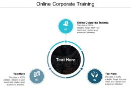 Online Corporate Training Ppt Powerpoint Presentation Gallery Files Cpb