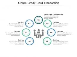 Online Credit Card Transaction Ppt Powerpoint Presentation Professional Images Cpb