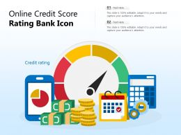 Online Credit Score Rating Bank Icon