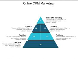 Online CRM Marketing Ppt Powerpoint Presentation File Influencers Cpb