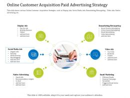 Online Customer Acquisition Paid Advertising Strategy Cross Ppt Powerpoint Layouts