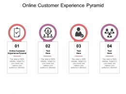 Online Customer Experience Pyramid Ppt Powerpoint Presentation Themes Cpb