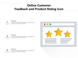 Online Customer Feedback And Product Rating Icon