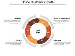 Online Customer Growth Ppt Powerpoint Presentation Ideas Design Ideas Cpb