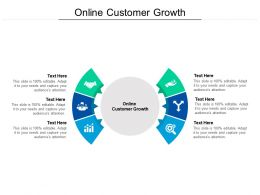 Online Customer Growth Ppt Powerpoint Presentation Layouts Deck Cpb