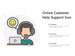 Online Customer Help Support Icon