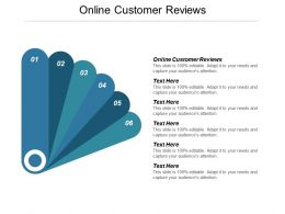 Online Customer Reviews Ppt Powerpoint Presentation Gallery Smartart Cpb