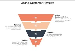 Online Customer Reviews Ppt Powerpoint Presentation Gallery Tips Cpb