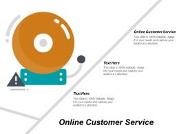Online Customer Service Ppt Powerpoint Presentation Infographics Example File Cpb