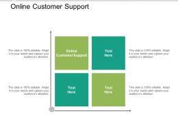 Online Customer Support Ppt Powerpoint Presentation Infographic Template Grid Cpb