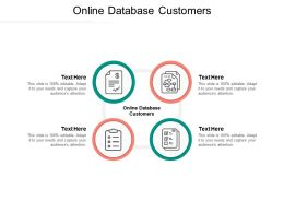 Online Database Customers Ppt Powerpoint Presentation Model Outfit Cpb