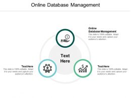 Online Database Management Ppt Powerpoint Presentation Styles Sample Cpb