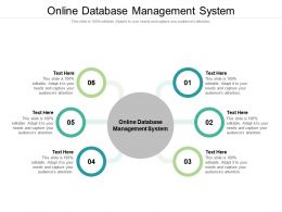 Online Database Management System Ppt Powerpoint Presentation Icon Infographics Cpb