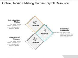 Online Decision Making Human Payroll Resource Leadership Succession Cpb