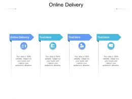 Online Delivery Ppt Powerpoint Presentation Infographic Template Images Cpb