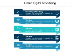 Online Digital Advertising Ppt Powerpoint Presentation Infographic Template Gridlines Cpb