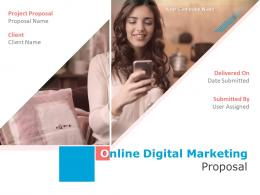 Online Digital Marketing Proposal Powerpoint Presentation Slides
