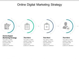 Online Digital Marketing Strategy Ppt Powerpoint Presentation Show File Formats Cpb