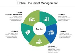 Online Document Management Ppt Powerpoint Presentation Ideas Shapes Cpb