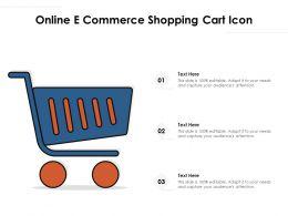 Online E Commerce Shopping Cart Icon