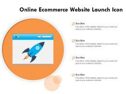 Online Ecommerce Website Launch Icon