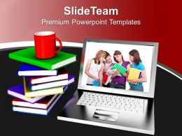 Online Education And Learning Concept PowerPoint Templates PPT Themes And Graphics 0213