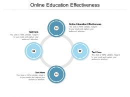 Online Education Effectiveness Ppt Powerpoint Presentation Outline Elements Cpb