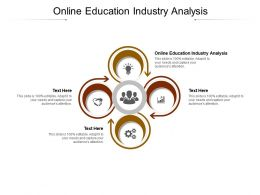 Online Education Industry Analysis Ppt Powerpoint Presentation File Information Cpb