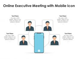Online Executive Meeting With Mobile Icon