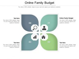 Online Family Budget Ppt Powerpoint Presentation Ideas Background Cpb
