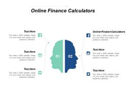Online Finance Calculators Ppt Powerpoint Presentation Icon Clipart Cpb