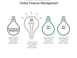 Online Finance Management Ppt Powerpoint Presentation Portfolio Visuals Cpb