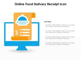 Online Food Delivery Receipt Icon