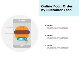 Online Food Order By Customer Icon