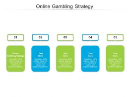 Online Gambling Strategy Ppt Powerpoint Presentation Infographics Aids Cpb