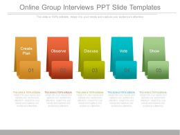 Online Group Interviews Ppt Slide Templates