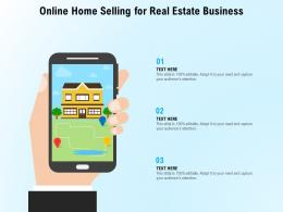 Online Home Selling For Real Estate Business