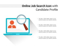 Online Job Search Icon With Candidate Profile