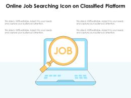 Online Job Searching Icon On Classified Platform