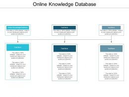 Online Knowledge Database Ppt Powerpoint Presentation Gallery Icon Cpb