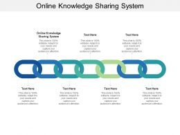 Online Knowledge Sharing System Ppt Powerpoint Presentation Gallery Portfolio Cpb