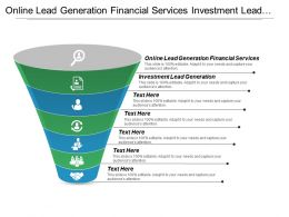 Online Lead Generation Financial Services Investment Lead Generation Cpb
