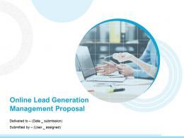 Online Lead Generation Management Proposal Powerpoint Presentation Slides