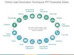 Online Lead Generation Techniques Ppt Examples Slides