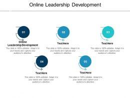 Online Leadership Development Ppt Powerpoint Presentation Professional Graphics Cpb