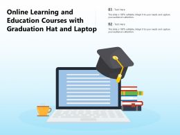 Online Learning And Education Courses With Graduation Hat And Laptop