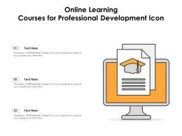 Online Learning Courses For Professional Development Icon
