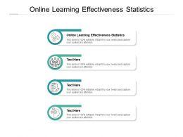 Online Learning Effectiveness Statistics Ppt Powerpoint Presentation Ideas Summary Cpb