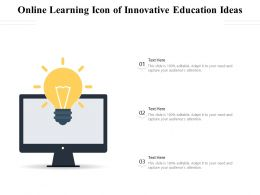 Online Learning Icon Of Innovative Education Ideas