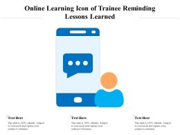 Online Learning Icon Of Trainee Reminding Lessons Learned